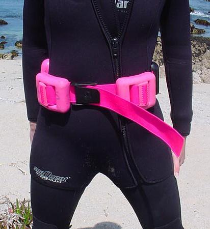 Diver Wearing Hard Weight Belt