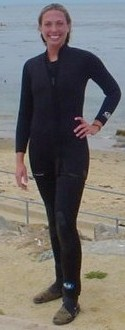diver wearing a wetsuit