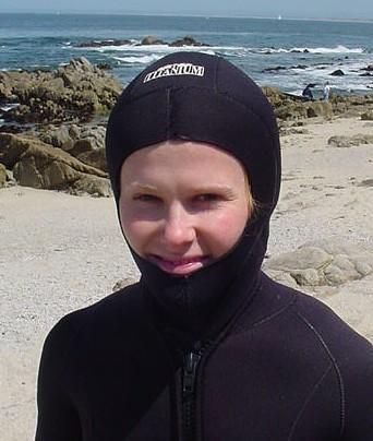 diver wearing a hood